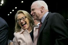 In an era that has almost extreme political partisanship, it seems rare that Hillary Clinton and John McCain seem to have genuine respect for each other and share a friendship. Description from flattish2.rssing.com. I searched for this on bing.com/images