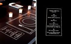 Chalk Setting + Menu - Wedding Idea..modern