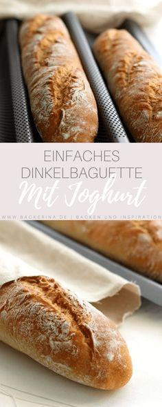 Best Cake : Recipe for a simple spelled baguette with yoghurt from bäckerina Keto Recipes, Cake Recipes, A Food, Food And Drink, Oreo Brownies, Evening Meals, No Carb Diets, Eating Plans, Keto Dinner