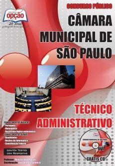 Apostila Concurso Câmara Municipal de São Paulo - TÉCNICO ADMINISTRATIVO