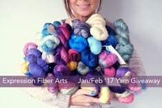 $1000 Expression Fiber Arts yarn giveaway for January/February 2017. Enter now!