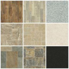 Vinyls bathroom and flooring on pinterest for Cheap lino floor covering