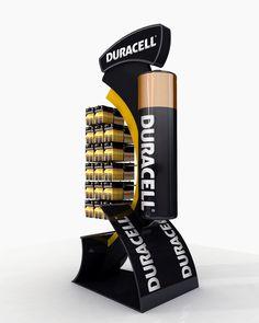 Duracell Display Stand 100x80x230cm by Muhammad Khalil, via Behance