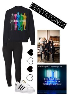 """""""Pentatonix!!"""" by hailey-tucker ❤ liked on Polyvore featuring Venus, adidas and plus size clothing"""