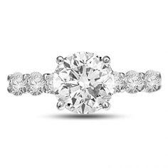 Heliconia Round Diamond Ring