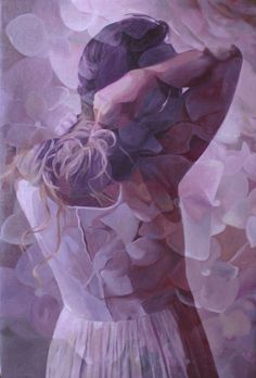 The painter Pakayla Biehn has made a series of double exposure paintings : girls painted with flowers in the background, or a lake and a field. In the colors, t Double Exposition, Multiple Exposure, Double Exposure, Photo Class, Chakra Colors, Experimental Photography, Photoshop, Purple Lilac, Periwinkle