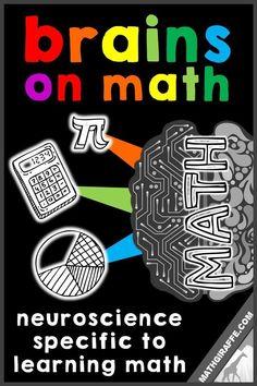 Brain Processing for Math Learning - neuroscience specifically for teaching math Math Teacher, Math Classroom, Teaching Math, Classroom Ideas, Teaching Strategies, Google Classroom, Teaching Tips, Classroom Organization, Math Resources