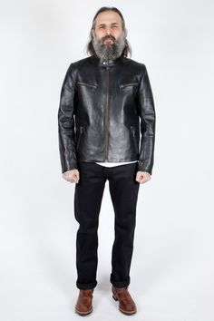 Edwin - Trophy Leather Jacket - Meadow