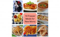 14 freezer meals for new moms