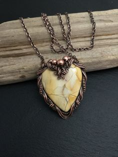 Wire wrapped heart heart pendant Valentine's by wireandbeyond808