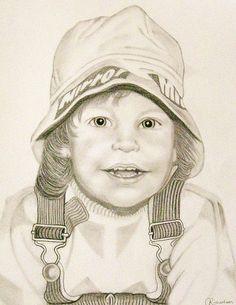 Charcoal Portraits Pencil Self Portrait by Portrait from a photo