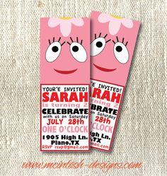 Yo Gabba Gabba Foofa Birthday Invite @Elizabeth Ray