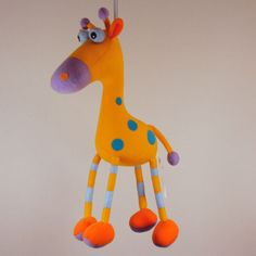 Springy Giraffe Mobile | When I Was a Kid