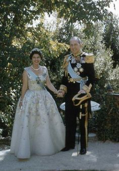 King George and Queen Frederika of Greece