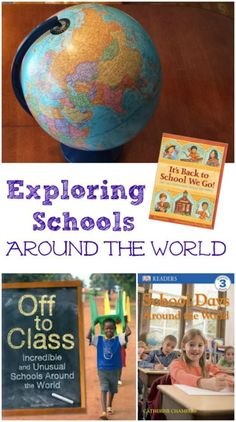 Back to School fun with these great kids books and activity about schools from around the world -- such a fun way to learn about different cultures and school traditions!