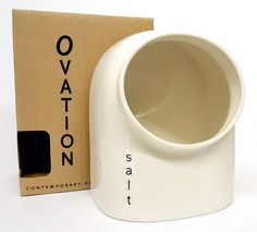 Ovation Contemporary Ceramic Salt Pig Cellar In Cream Storage Kitchen Jar Holder in Home, Furniture & DIY, Cookware, Dining & Bar, Food Preparation & Tools | eBay #kitchen #kitchenwares #home #essentials #homeessentials #inthekitchen #cook #dinner #dinnerparty #cooking #decor #salt #storage #saltpig #modern #contemporary #simple #Ovation