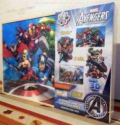 Rompecabezas Lenticular The Avengers (paquete de 4)