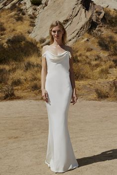 6198485ad42ff 23 awesome cowl neck wedding dress images | Groom attire, Engagement ...
