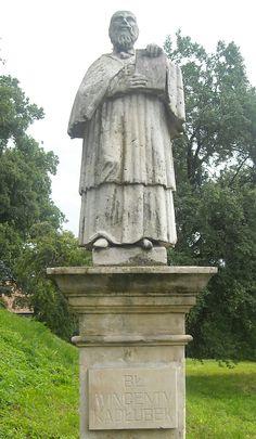 Statue of Wincenty Kadłubek in Sandomierz, Poland