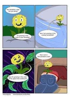 Dandelions can grow anywhere... #bad #puns