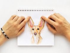 interactive illustrations connect drawn dogs with human hands