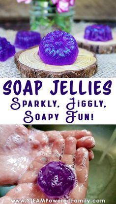 Jelly Soap Making - Sparkly, Jiggly, Soapy Fun Jellies! - Jelly soaps are all the rage! They are squishy, fun, soapy goodness that kids love. They provide a - Fun Arts And Crafts, Fun Diy Crafts, Fun Crafts For Kids, Crafts To Make, Teen Crafts, Diy Crafts At Home Easy, Fun Things To Make For Teens, Diy Projects For Home, Crafts For Gifts