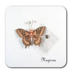 PAPILLON PRESSION 5 CM BEIGE - Boutique www.magicreation.fr