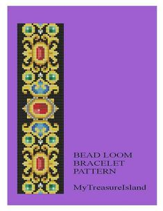 For sale is Bead Loom Vintage Motif 16 Bracelet Pattern in PDF format. For this design I used Miyuki Delica seed beads in size 11. By using