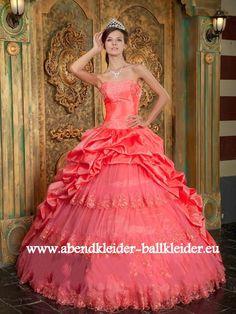 Opern Kleid Abend -Ballkleid Brautkleid in Lachs