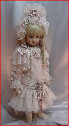 27in pink silk ~Dress by Dollightfully Yours ~♥~ Cheryl Imbornone