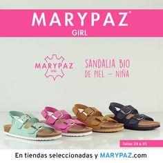 """MARYPAZ GIRL Emoticón heart Emoticón heart Descubre la colección """"mini"""" de MARYPAZ pensada para las más pequeñas de la casa Emoticón smile Disponibles en tiendas seleccionadas y en nuestra NUEVA WEB marypaz.com ¡ Descubre la SANDALIA BIO de PIEL NIÑA en una amplia variedad de colores !  Descubre toda la Colección MARYPAZ GIRL aquí ► http://www.marypaz.com/girl.html"""