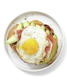 Avocado, Prosciutto, and Egg Open-Faced Sandwich recipe