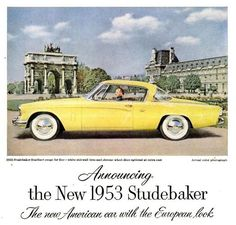 Classic Car Advertisement Before my time http://classic-auto-trader.blogspot.com