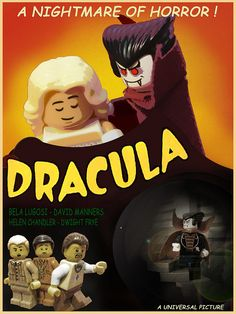 Dracula | Flickr - Photo Sharing! Lego Film, Lego Tv, Lego Movie, Lego Decals, Lego People, Monster Toys, Horror Posters, Movie Posters, Lego Figures
