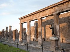 The cities of Pompeii, Herculaneum and Torre Annunziata were destroyed when Vesuvius erupted on Aug. 24, 79 A.D. The remains of these cities, which lay buried beneath a thick layer of volcanic ash, stone and mud for nearly 2,000 years, were excavated in mid-1700s -- providing a poignant snapshot of an August day frozen in time. Pictured here are the ruins of the Temple of Apollo in Pompeii.