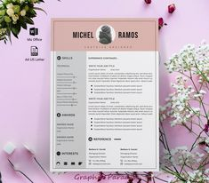 Modern resume template microsoft word free Resume template image 1