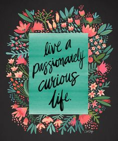 Live a passionately curious life https://society6.com/product/curiosity-kf7_print?curator=themotivatedtype