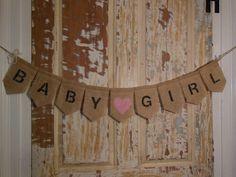 Nice Baby Girl Banner Baby Girl Bunting Baby By IchabodsImagination, $22.00