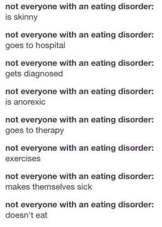 sad quotes about eating disorders - Google Search