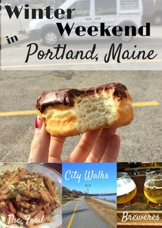 What you need to know to spend your (winter) weekend in Portland, Maine. Bon Appétit named Portland America's foodiest small town. All you need to know for your Portland Maine EATCATION including winter walks, restaurants, breweries and more! Weekend In Portland, Portland Maine, Old Orchard Beach Maine, Camping In Maine, Beach Camping, Maine Winter, Camping In North Carolina, Paris Cafe, Weekend Trips