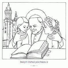 Najlepsze Obrazy Na Tablicy Jan Pawel Ii 17 W 2020 Kolorowanki