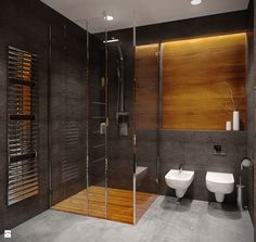 Like layout could imagine louver window where shutter is grey tiles timber etc. Bathroom Design Luxury, Bathroom Design Small, Bathroom Interior, Home Interior Design, Dark Bathrooms, Dream Bathrooms, Small Bathroom Ideas On A Budget, Tv Wall Cabinets, Bathroom Inspiration