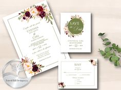 Your place to buy and sell all things handmade Gold Invitations, Printable Wedding Invitations, Invitation Set, Wedding Stationery, Invite, Rsvp Wording, Wedding Templates, Wishing Well, Table Cards