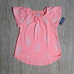 Old Navy peach tee 8y 55rb