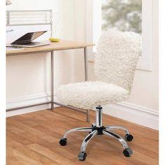 Urban Shop Faux Fur Task Chair - Walmart.com