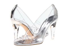 Stuart Weitzman Bridal & Evening Collection Sparkle - no wonder Cinderella lost a shoe.. she was running in these heels.