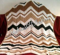 Ripple custom handcrafted afghan blanket by AfghansOffTheHook