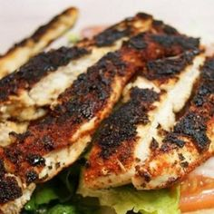 Blackened Chicken and Savory Herbed Brown Rice