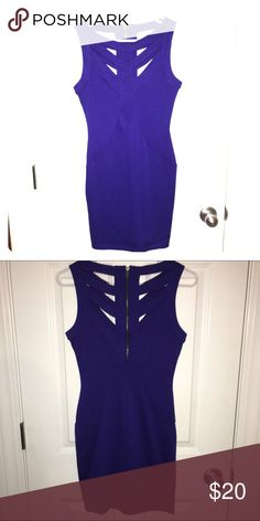 NWOT One Clothing blue form fitting dress Never worn, in great shape! 78% polyester/ 17% rayon/5% spandex. Brand is one clothing. one clothing Dresses Mini