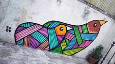 Street art by french artist Pablito Zago